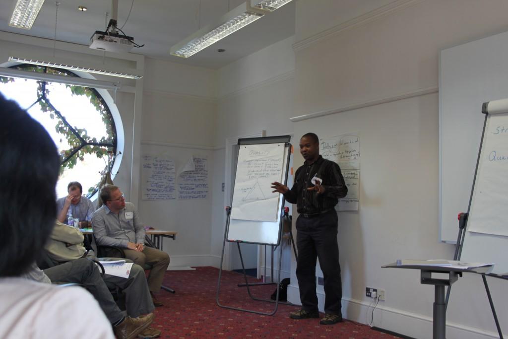 EDI Tanzania country director presenting