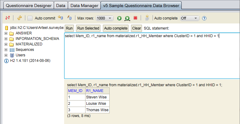 data browser example