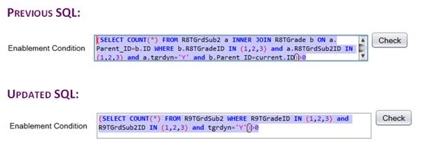 SQL for cascading ID school